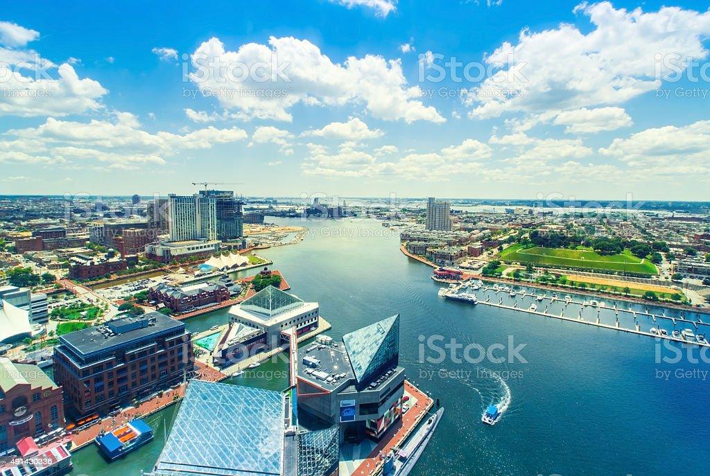 Inner Harbor of Baltimore, Maryland stock photo