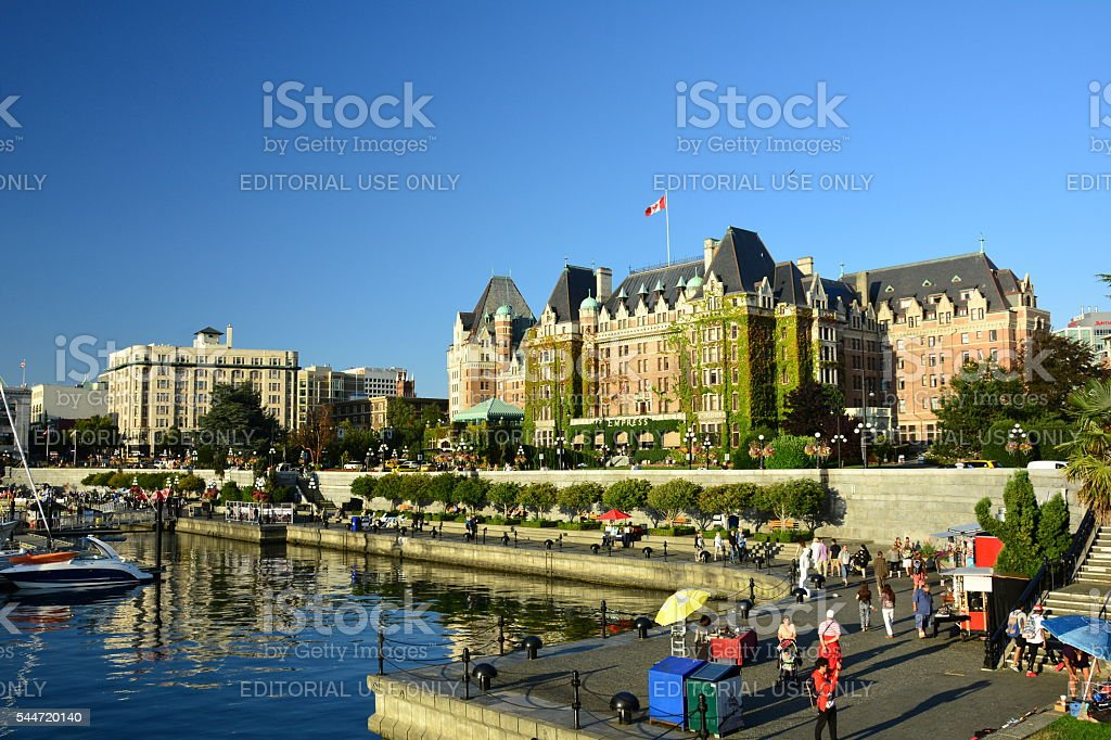Inner harbor Victoria BC,Canada stock photo