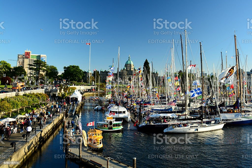 Inner harbor Victoria BC,Canada stock photo
