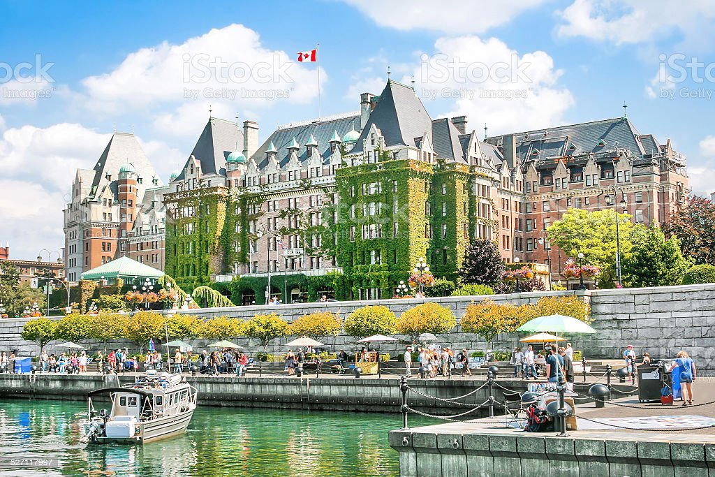 Inner Harbour of Victoria, BC, Canada stock photo