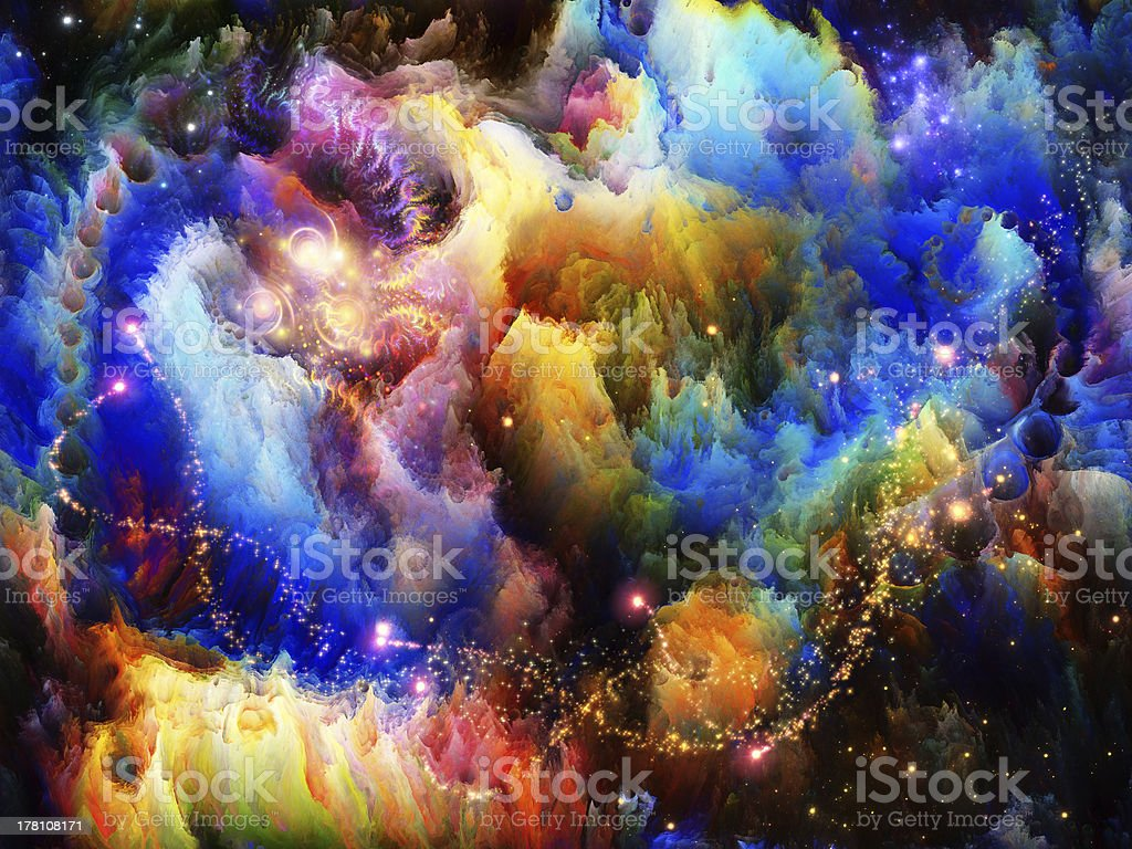 Inner Life of Fractal Turbulence royalty-free stock photo