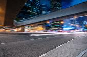 inner urban street at night,Hong Kong