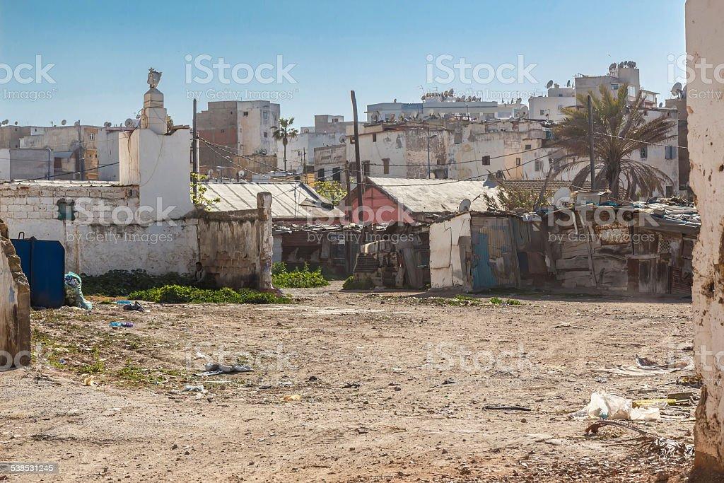 Inner-city slum in Casablanca, stock photo