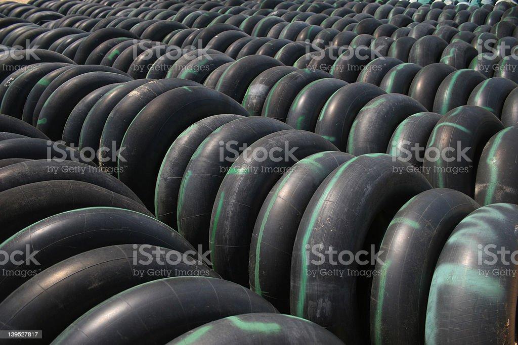 Innertube Rows royalty-free stock photo