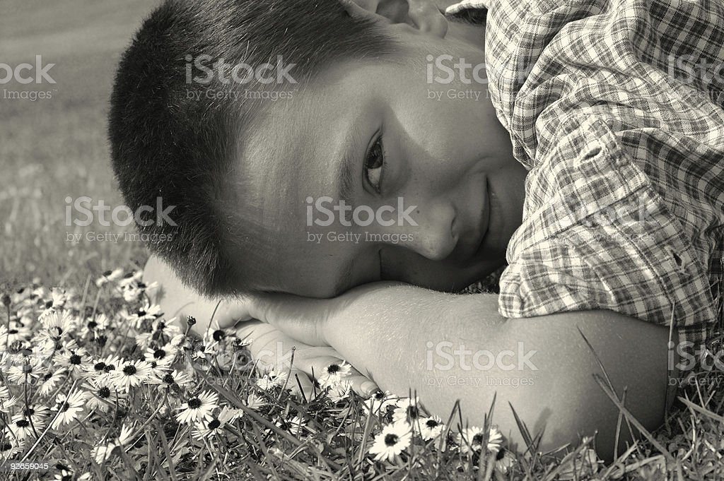 Innocence (in B/W) royalty-free stock photo
