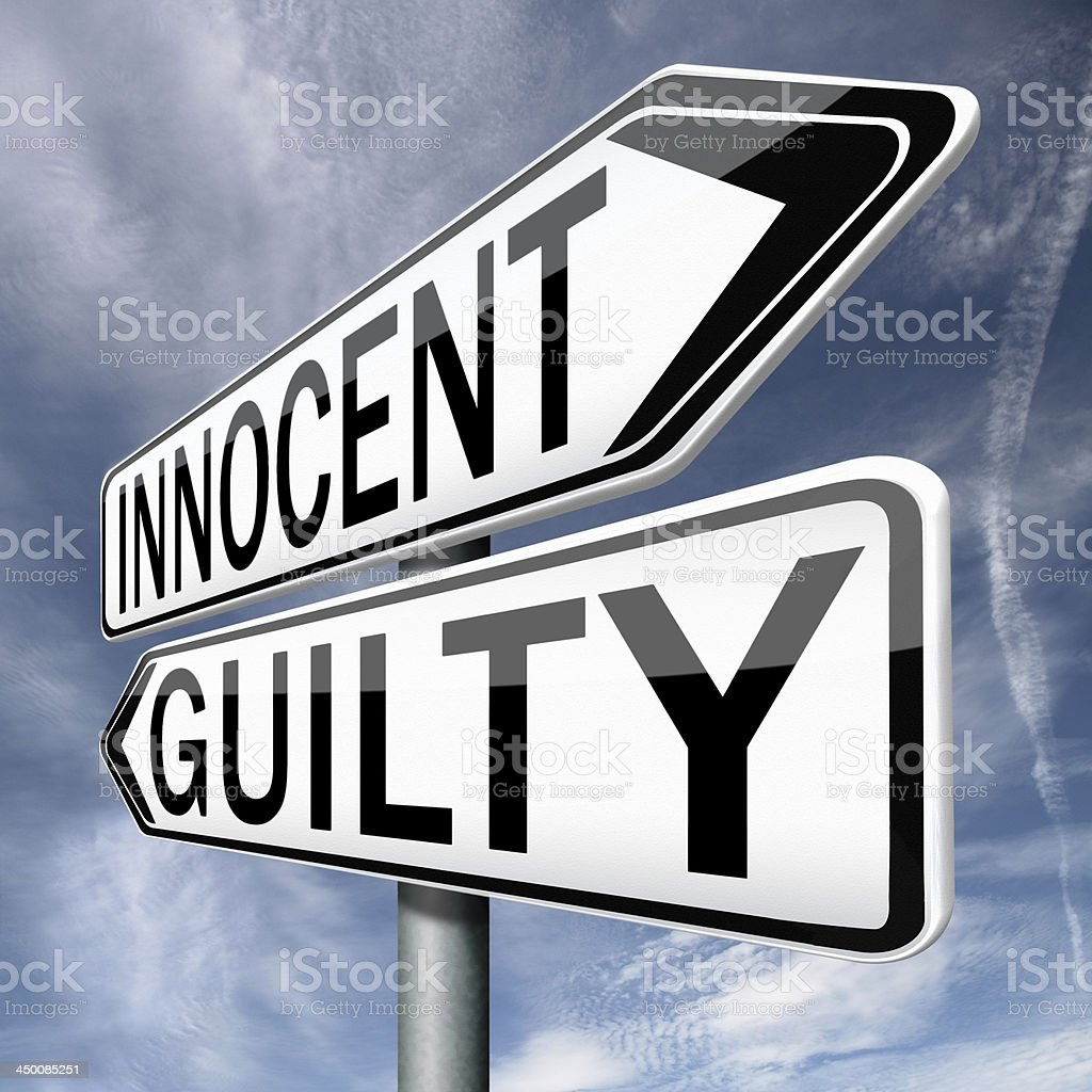 innocent guilty stock photo