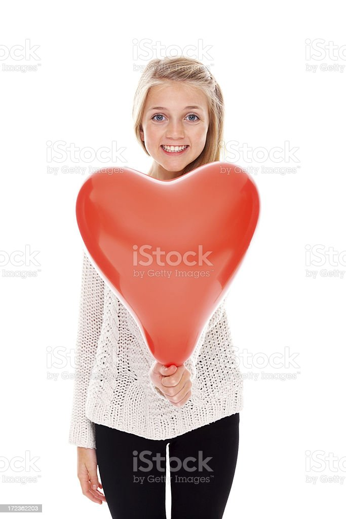 Innocent little girl spreads love royalty-free stock photo