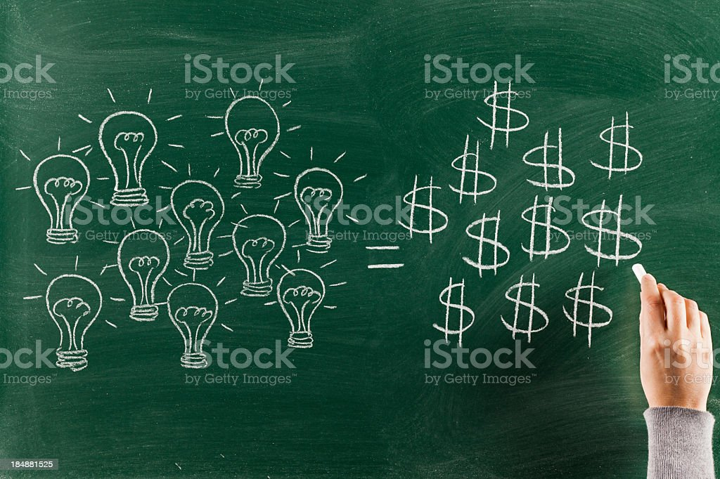 Innovation brings money royalty-free stock photo