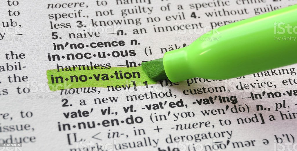 Innovation Defined royalty-free stock photo