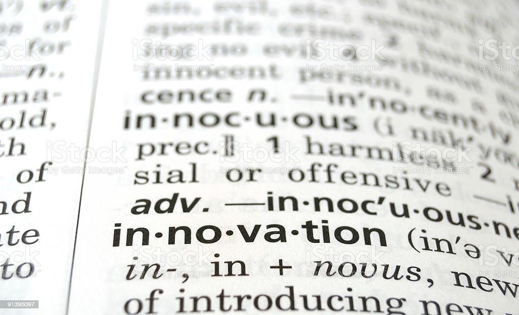 Innovation Defined stock photo