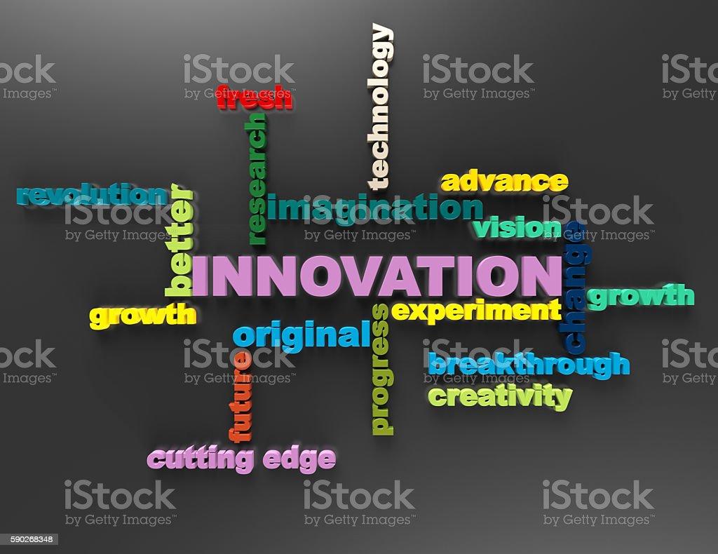 Innovation, Original, Growth crossword concept stock photo