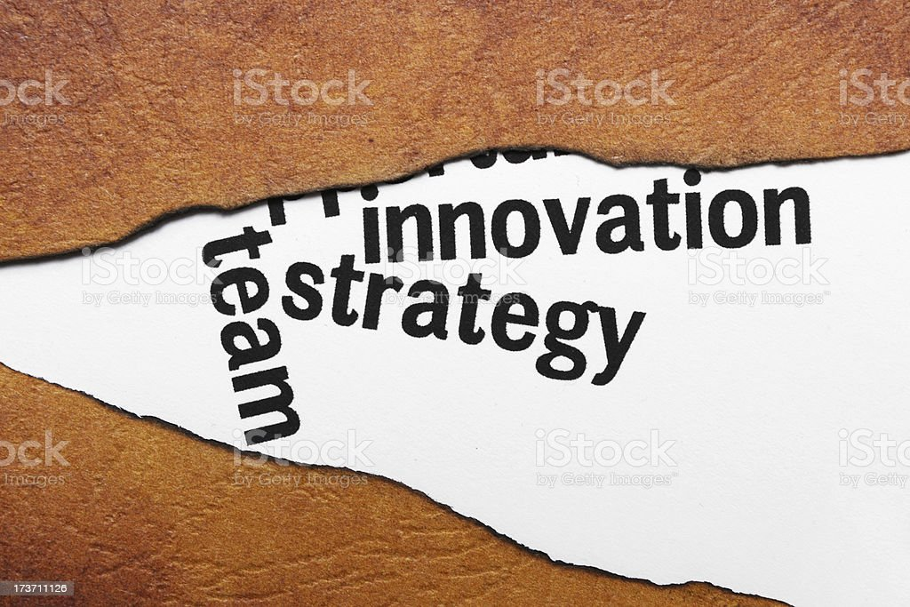 Innovation strategy concept royalty-free stock photo