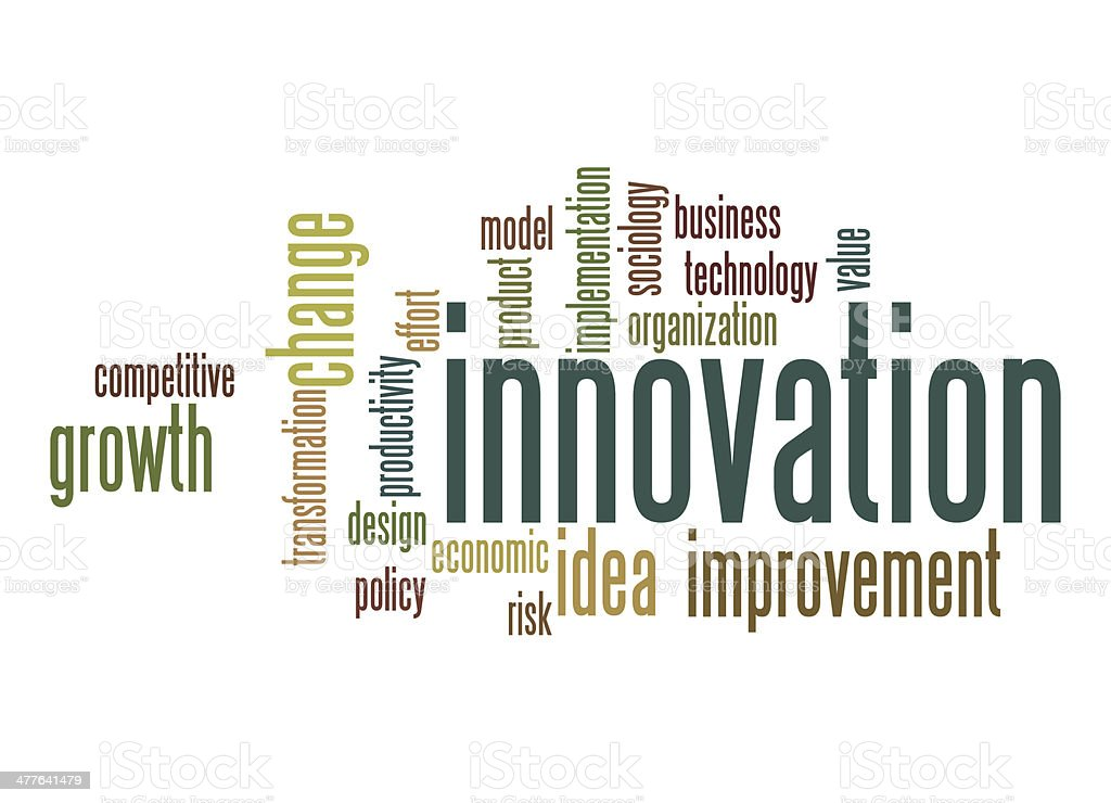 Innovation word cloud royalty-free stock photo