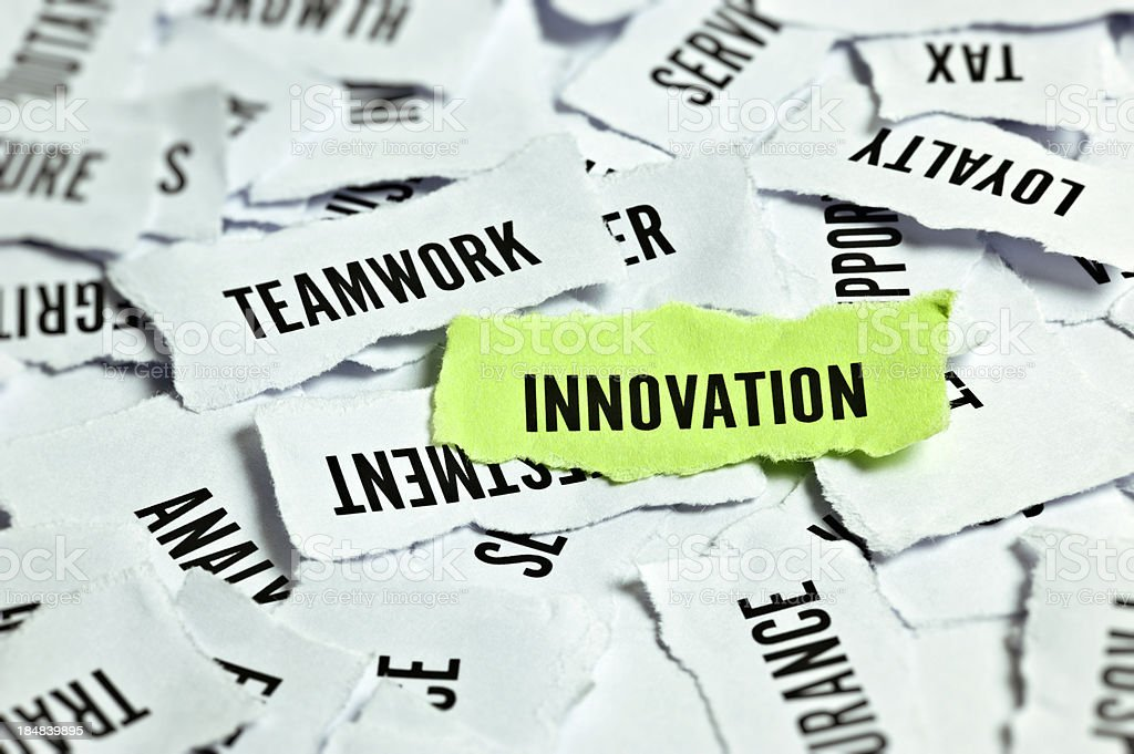 Innovation Word On Paper royalty-free stock photo