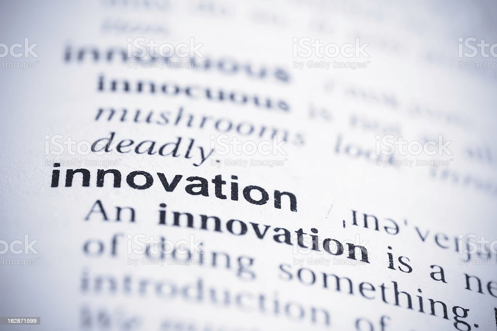 Innovation Word royalty-free stock photo