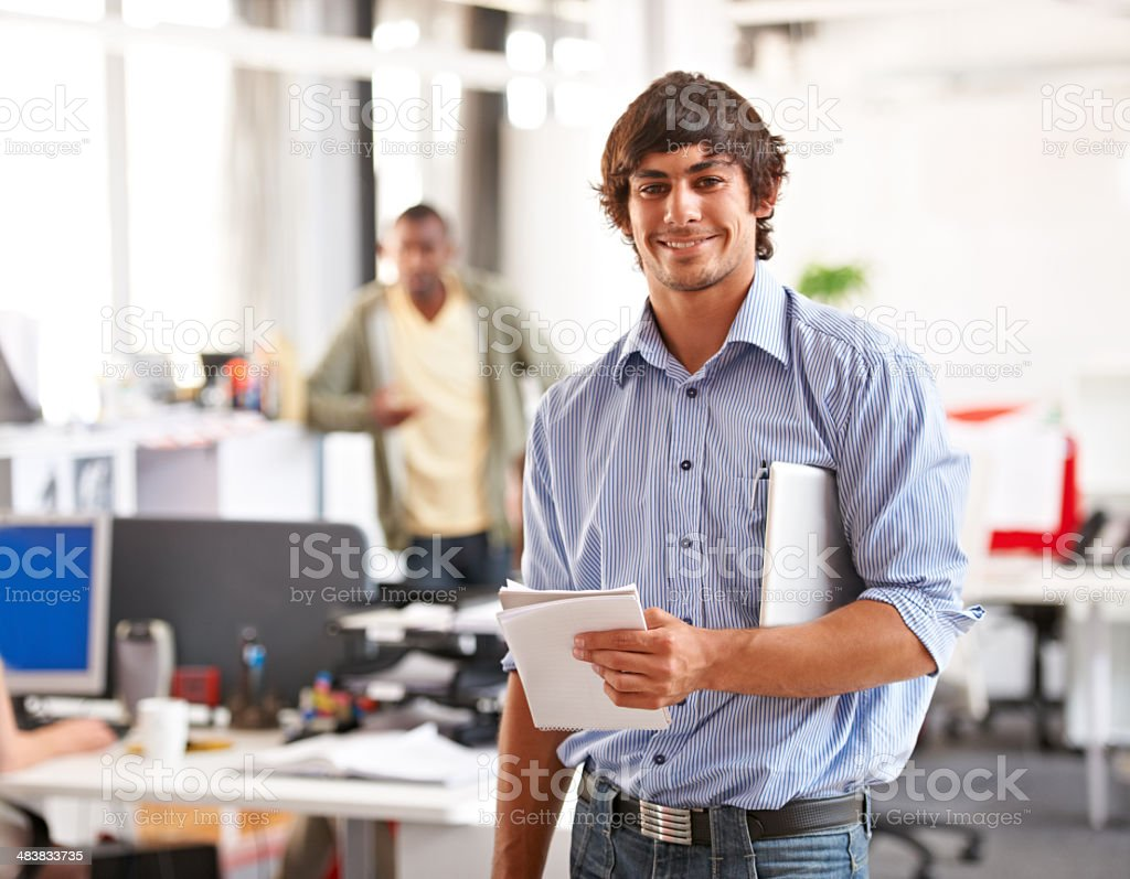 Innovative and intelligent businessman stock photo