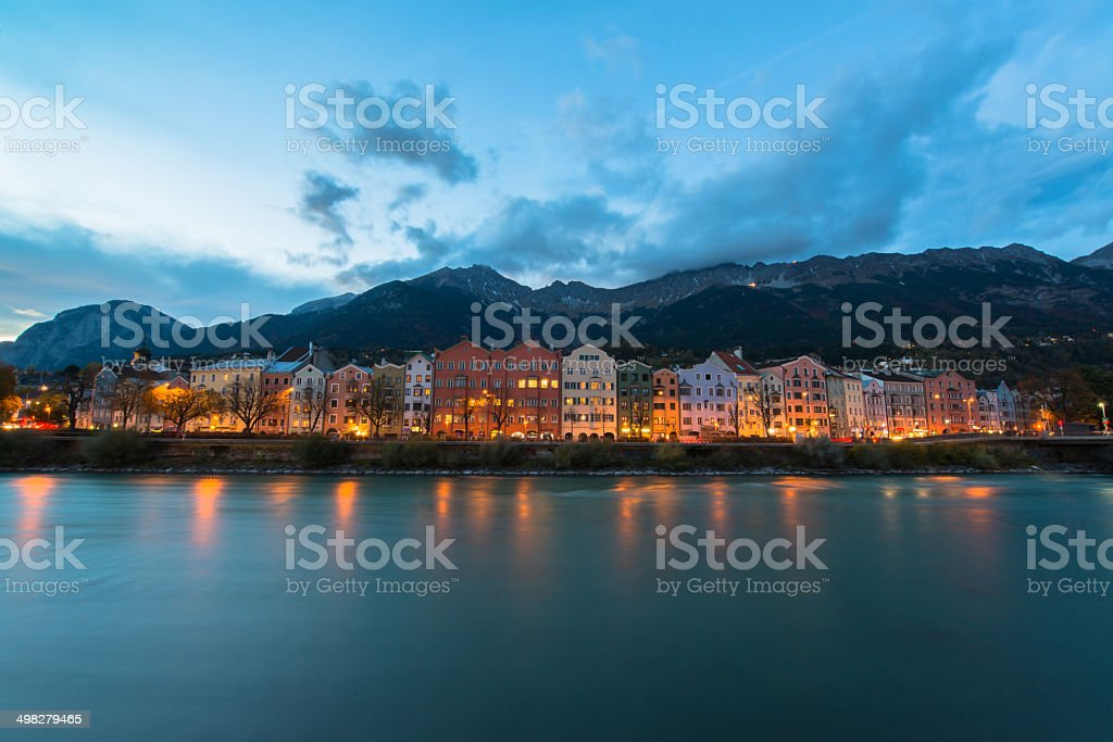 Innsbruck Austria - architecture and nature background stock photo