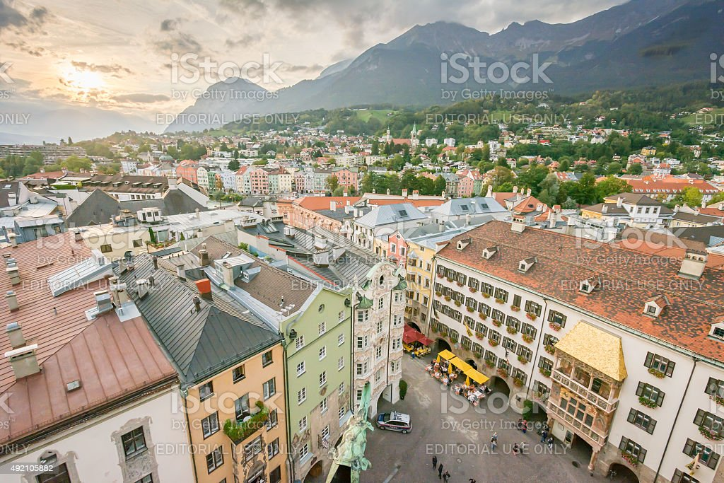 Innsbruck cityscape stock photo