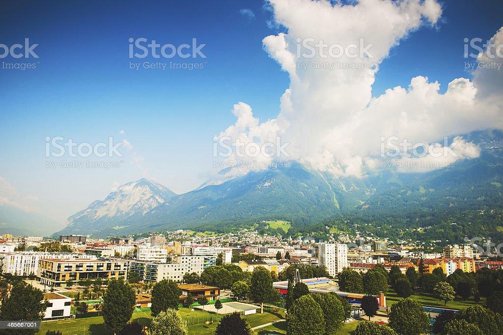 Innsbruck European alps stock photo