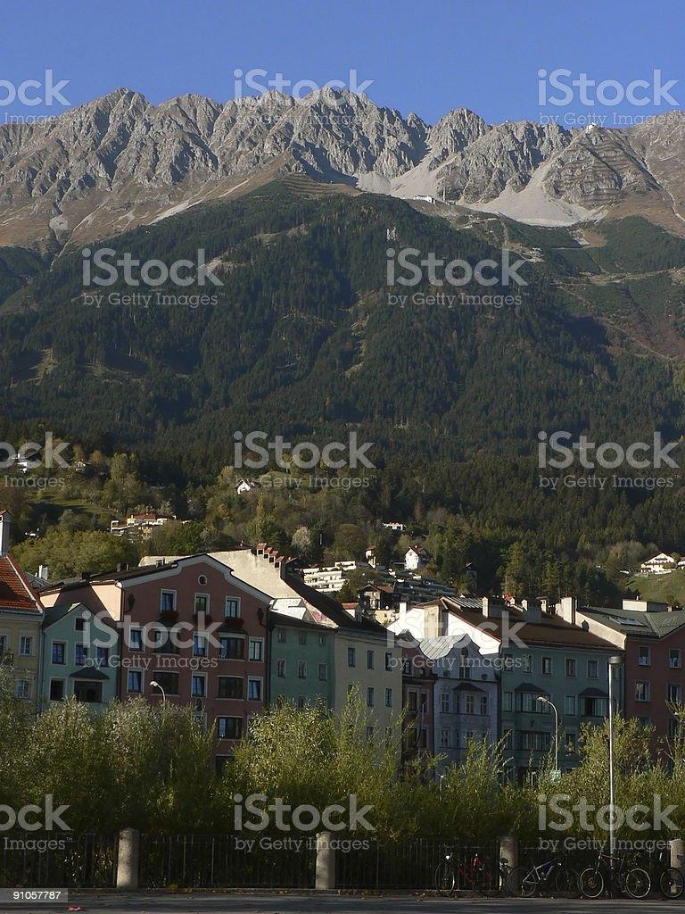 Innsbruck in fall stock photo