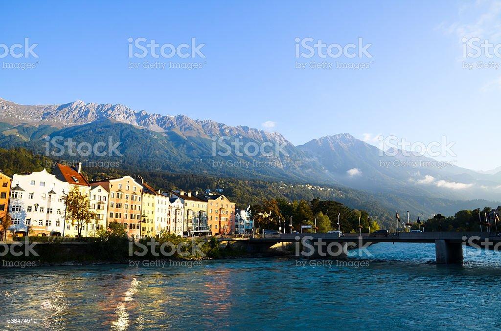 Innsbruck in the Morning, Tyrol (Austria) stock photo