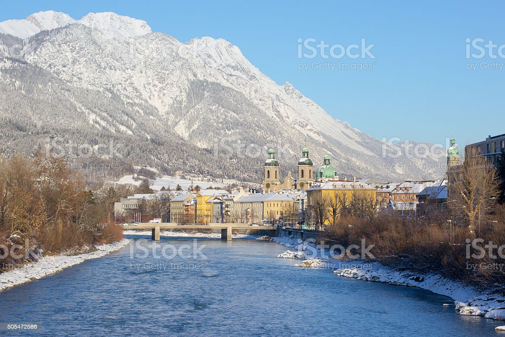 Innsbruck old town, winter stock photo