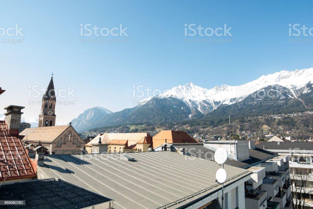 Innsbruck on a sunny day stock photo