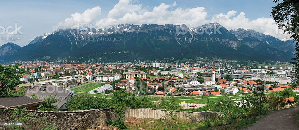 Innsbruck panorama stock photo