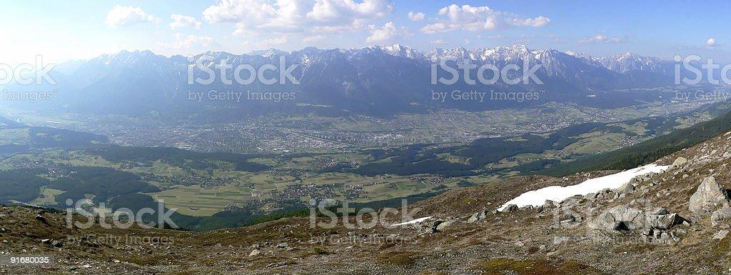Innsbruck Panorama stock photo
