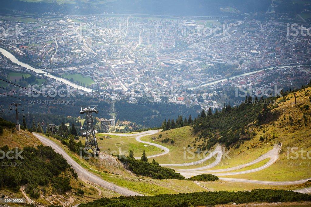 Innsbruck Seegrube stock photo