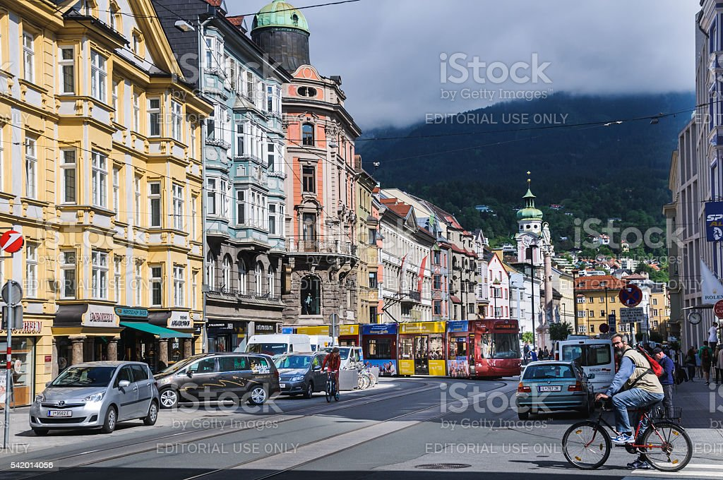Innsbruck Traffic stock photo