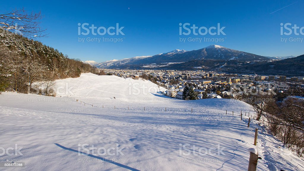Innsbruck winter stock photo