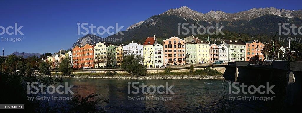 Innsbrucks skyline royalty-free stock photo