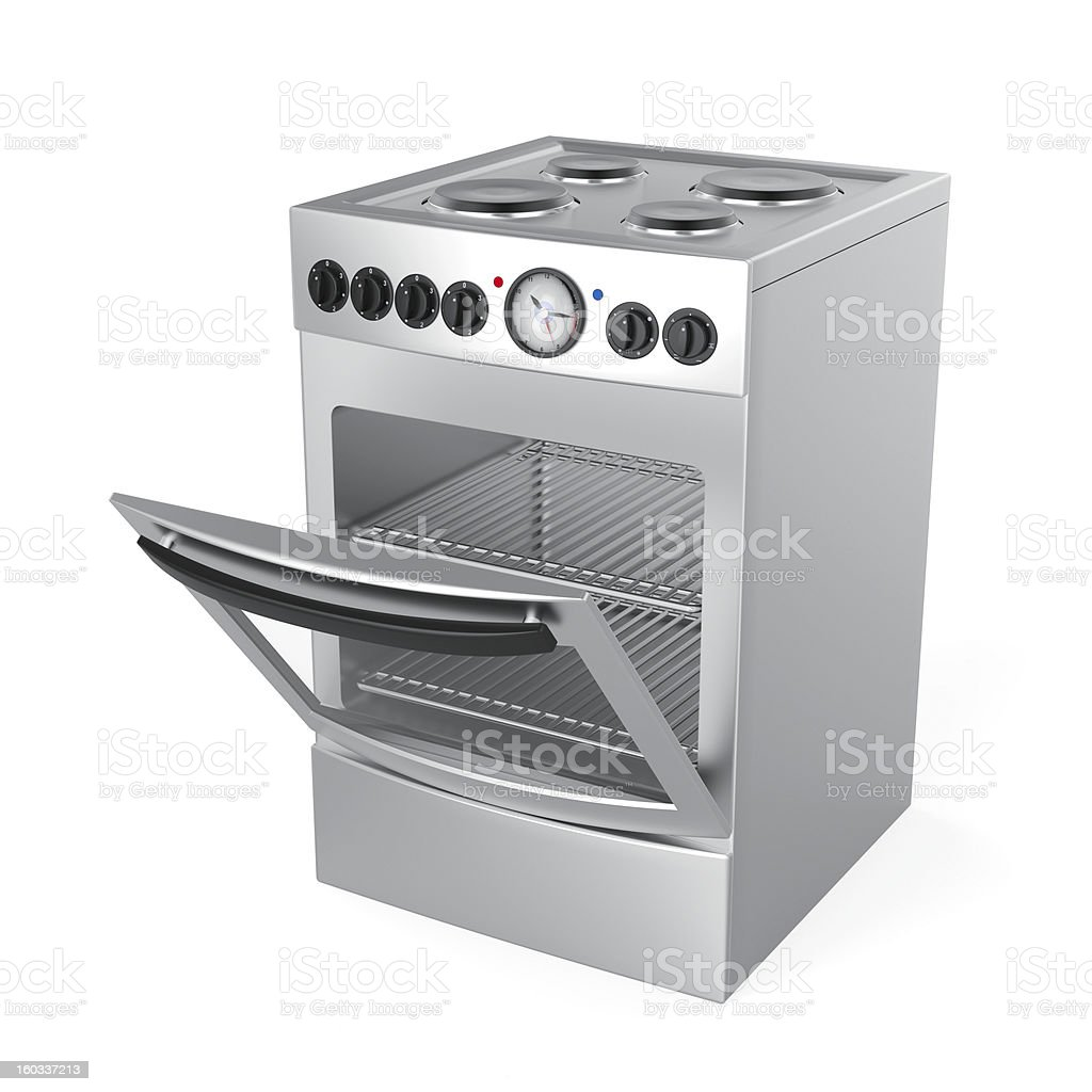 Inox electric stove stock photo