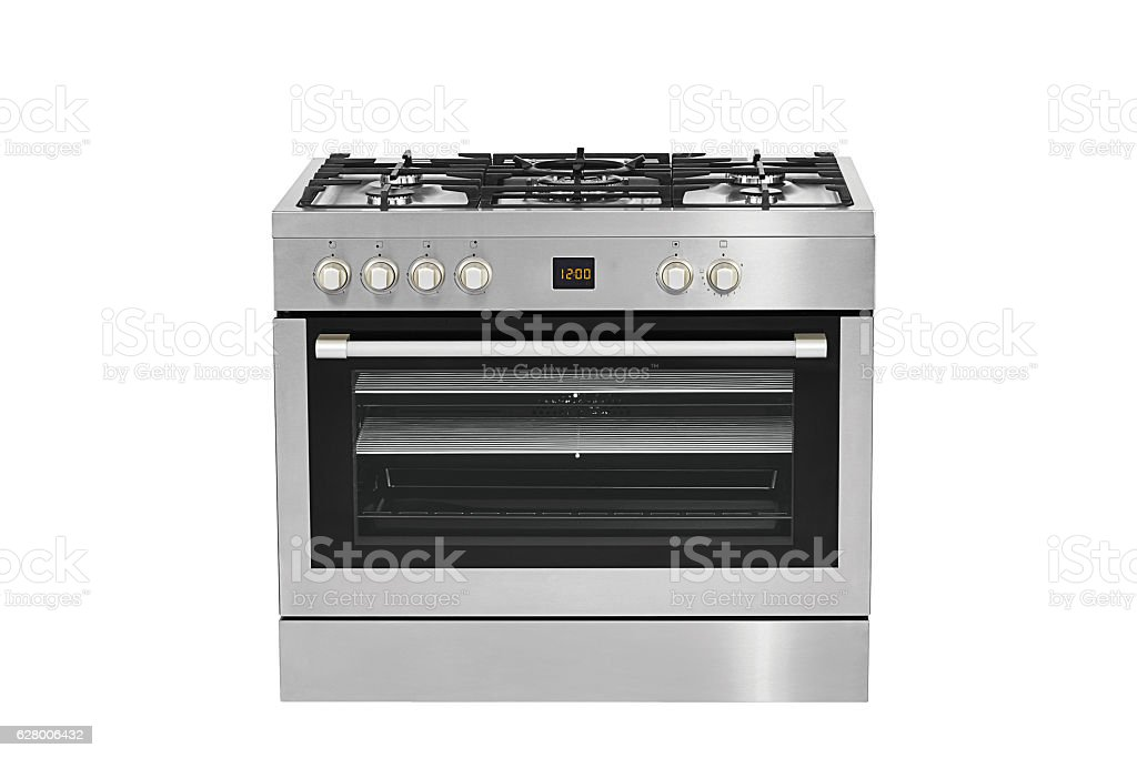 Inox Stove (clipping path) stock photo