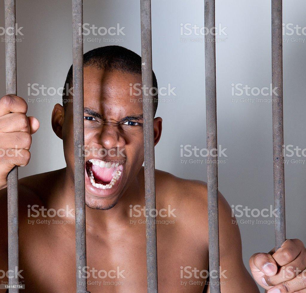 Inprisoned Man stock photo