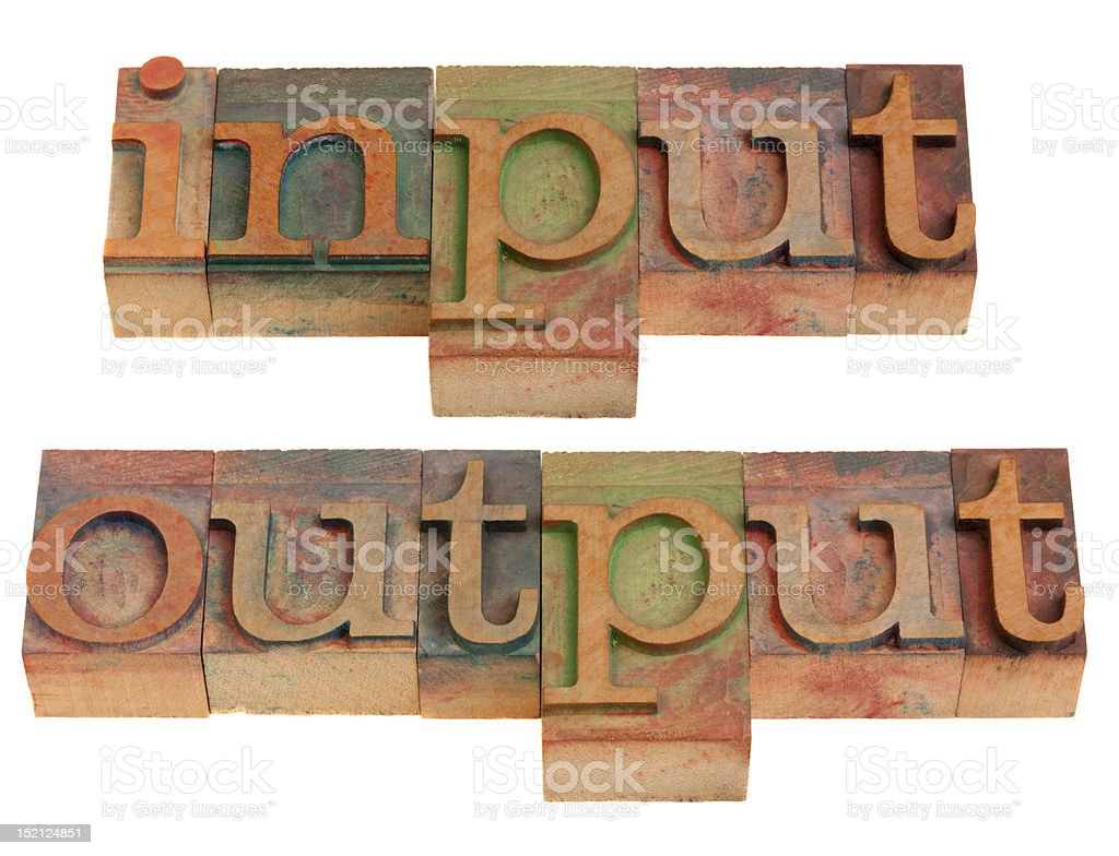 input and output royalty-free stock photo