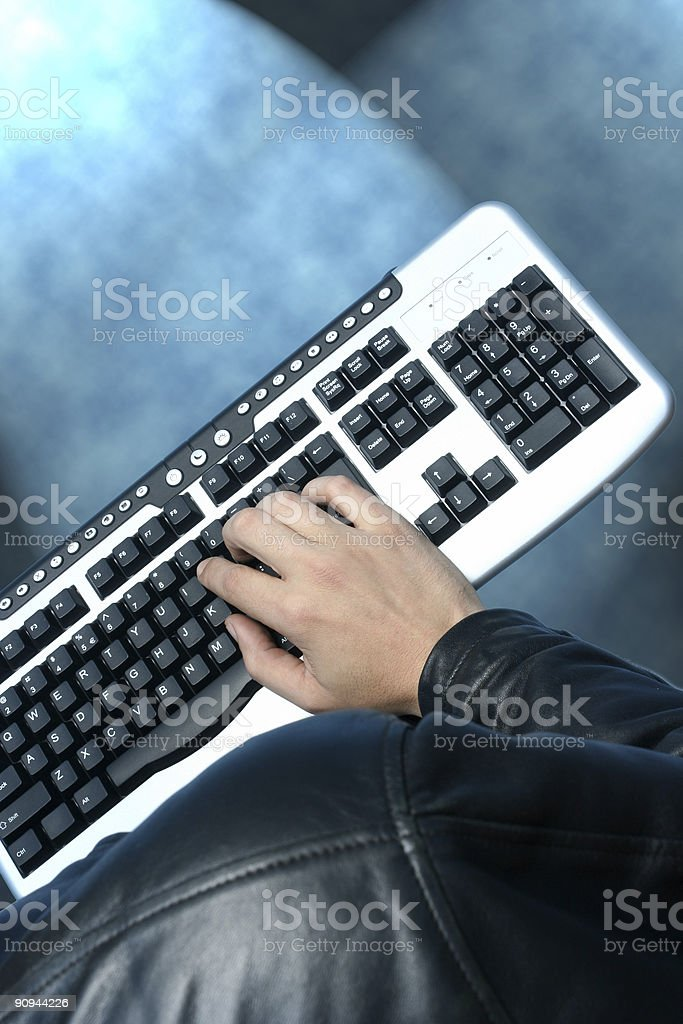 Input from keyboard royalty-free stock photo