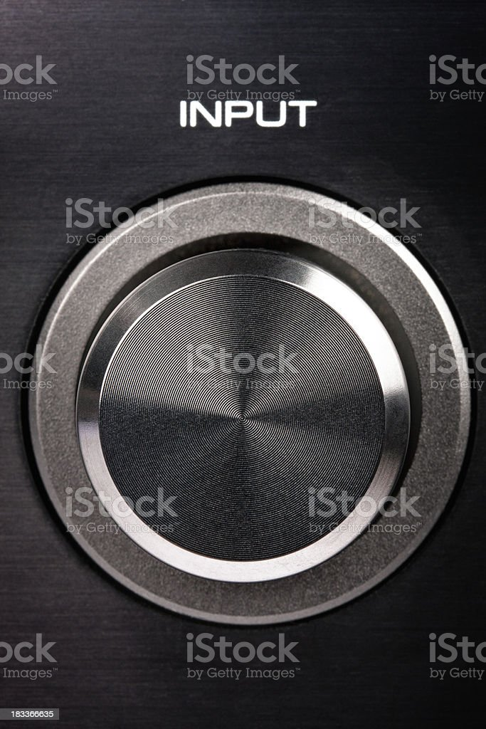 Input rotary button royalty-free stock photo