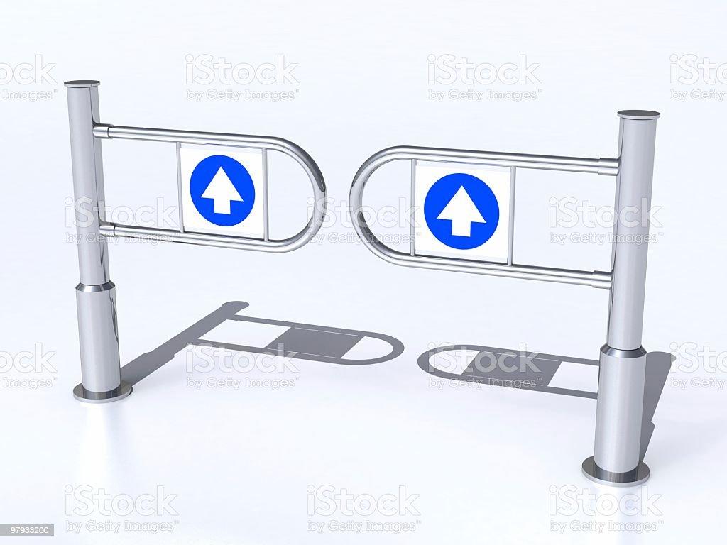 3D Input turngate stock photo