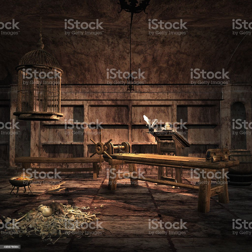 Inquisition torture chamber stock photo