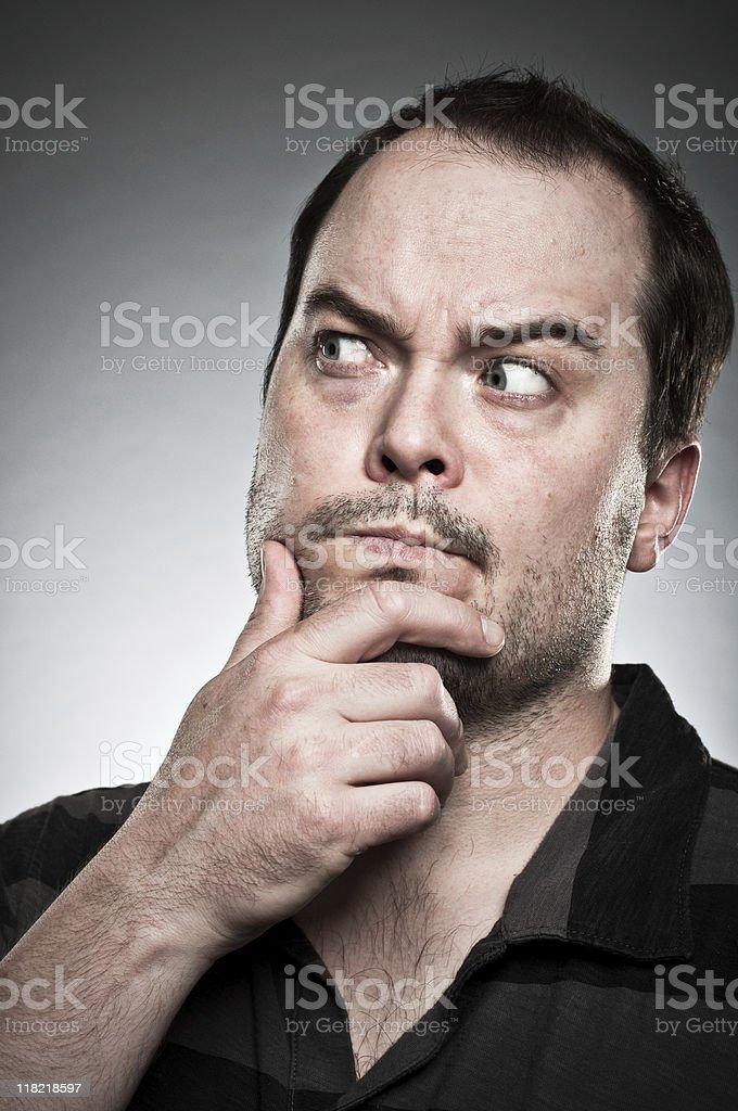 Inquisitive Face Portrait royalty-free stock photo