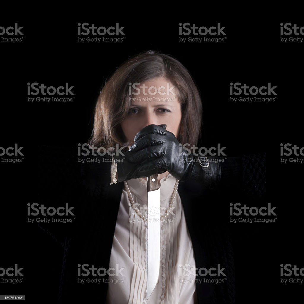 insane killer stock photo