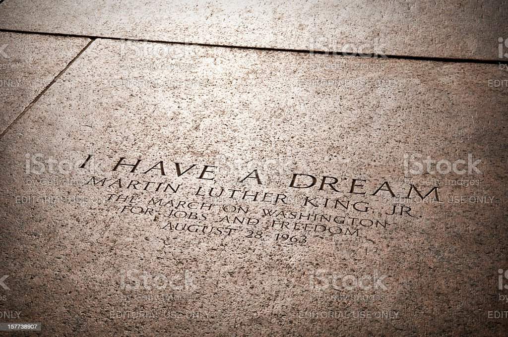 MLK Jr's I Have a Dream speech location stock photo