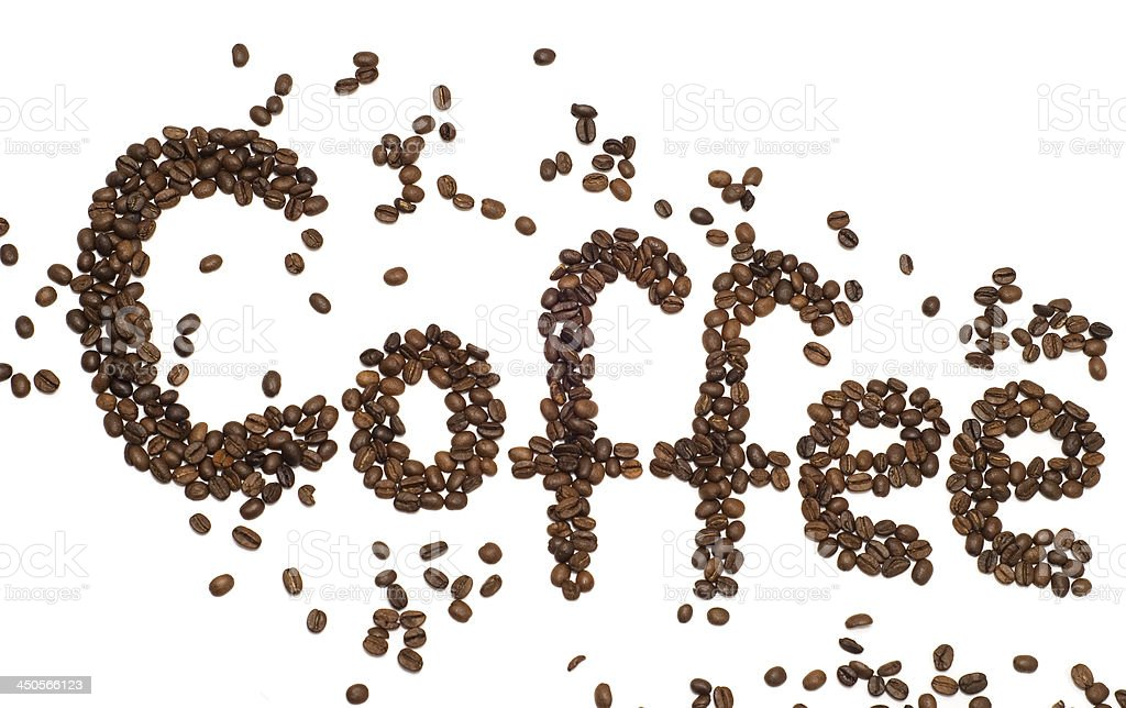 inscription coffee royalty-free stock photo