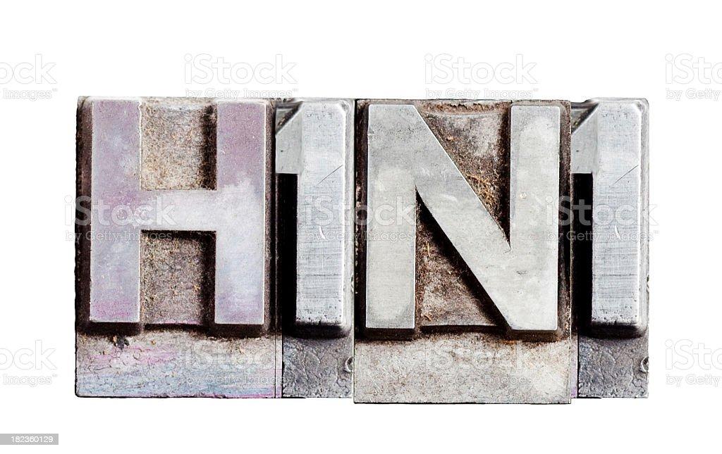 H1N1 inscription stock photo