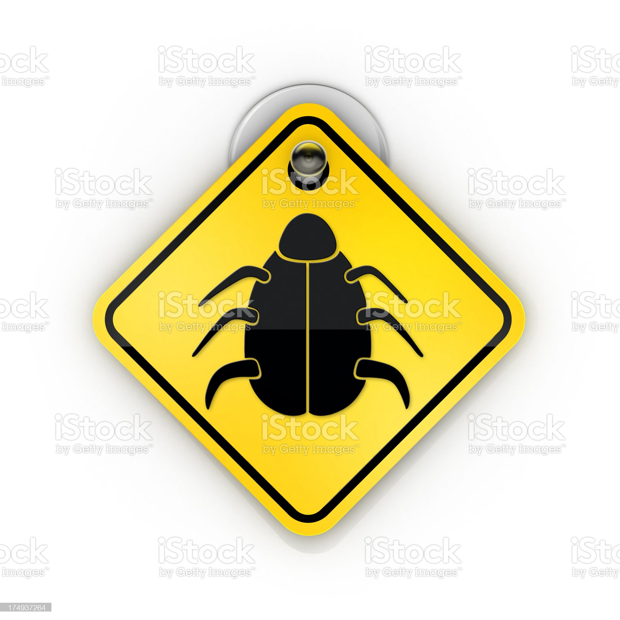 insect bug or Virus Sticky warning royalty-free stock photo