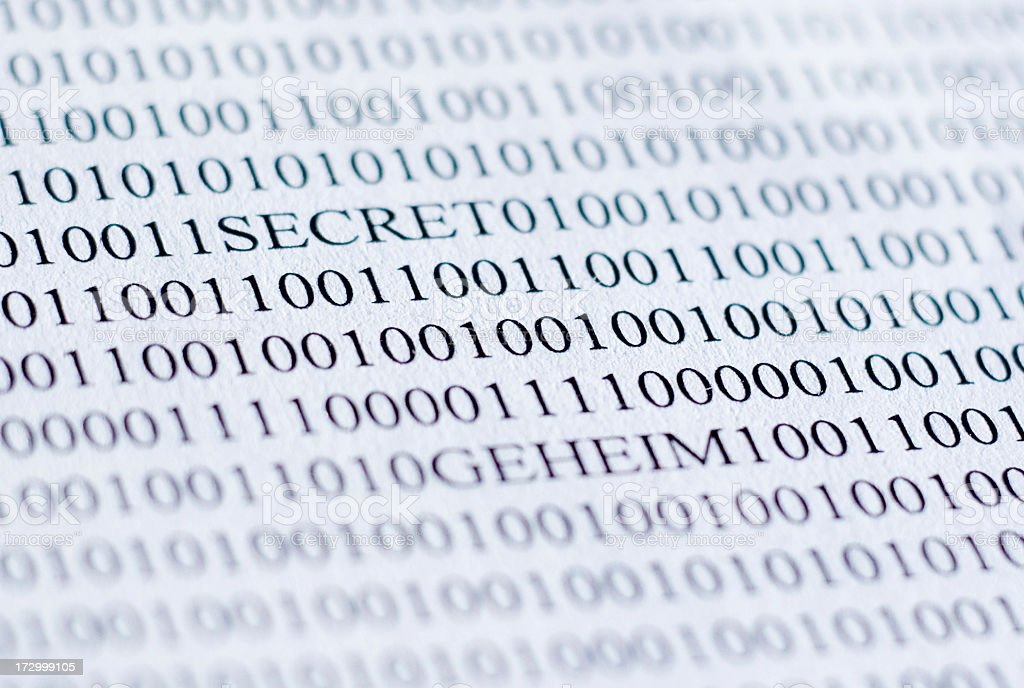 Insecure computer data stock photo