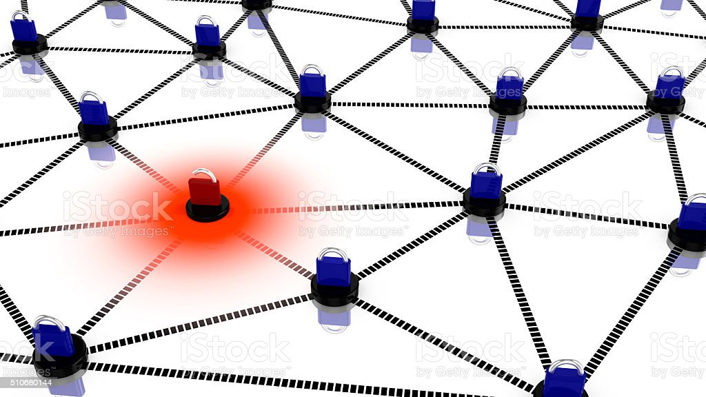 Insecure network concept illustration stock photo