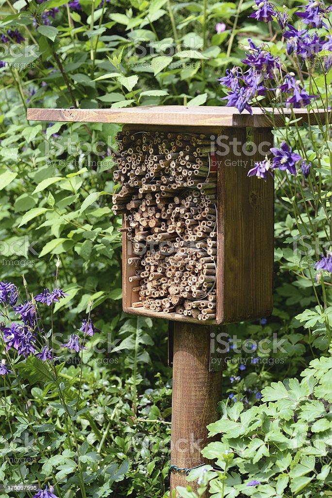 Insektenhotel - hotel insect shelter royalty-free stock photo